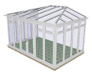 Hipped Conservatory 70 - PVCu, Fully Glazed