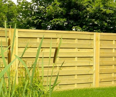 Fence Panel 412 - Planed Timber, 9mm Reeded Boards, 2x2 Frame