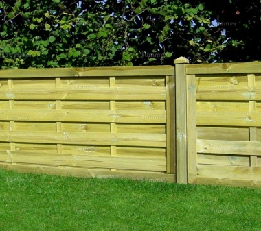Fence Panel 416 - Planed Timber, 9mm Reeded Boards, 3x2 Frame