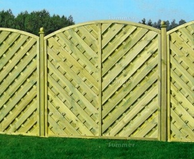 Fence Panel 422 - Planed Timber, 9mm Reeded Boards, 2x2 Frame