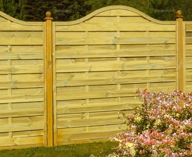 Fence Panel 442 - Planed Timber, 9mm Reeded Boards, 2x2 Frame