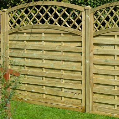 Fence Panel 454 - Planed Timber, 9mm Reeded Boards, 3x2 Frame