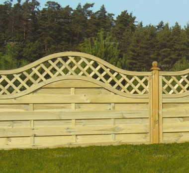 Fence Panel 465 - Planed Timber, 9mm Reeded Boards, 2x2 Frame