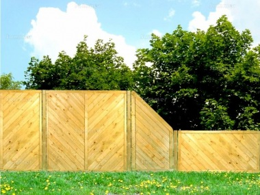 Fence Panel 515 - Stepped Height, Planed, 15mm T and G, 3x2 Frame