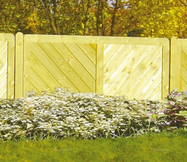 Fence Panel 516 - Planed Timber, 15mm T and G Boards, 3x2 Frame