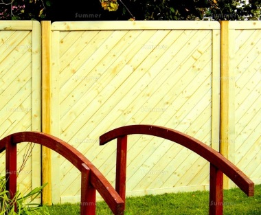 Fence Panel 530 - Planed Timber, 18mm T and G Boards, 4x2 Frame