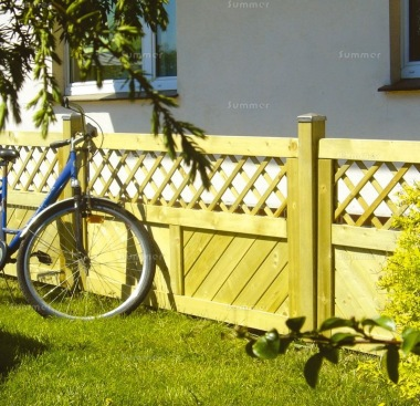 Fence Panel 542 - Planed Timber, 18mm T and G Boards, 4x2 Frame