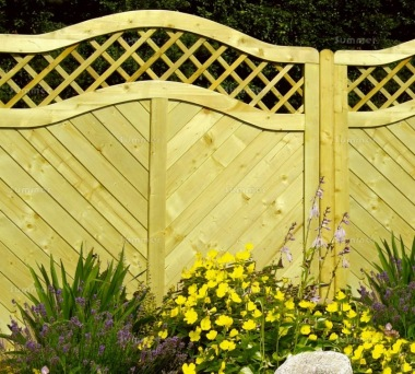 Fence Panel 550 - Planed Timber, 18mm T and G Boards, 4x2 Frame