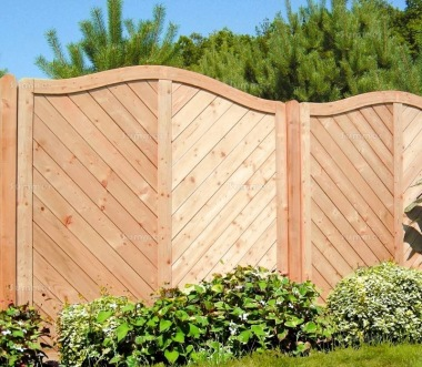 Fence Panel 573 - Larch, Planed, 18mm T and G Boards, 4x2 Frame