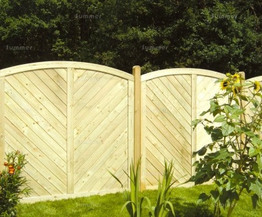 Fence Panel 576 - Planed Timber, 18mm T and G Boards, 4x2 Frame