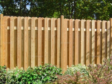 Fence Panel 624 - Larch, Planed, 18mm Thick Boards, Double Sided