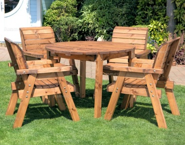 4 Seater Dining Set 490 - Armchairs, Round Table