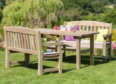 Pressure Treated 4 Seater Dining Set 876 - Benches