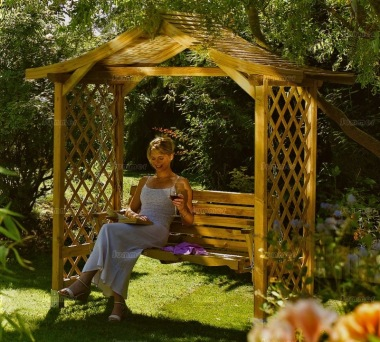 Pine Garden Arbour 32 with Swing Seat