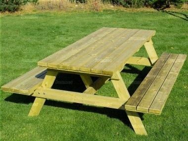 6 Seater Picnic Bench 217 - Pressure Treated