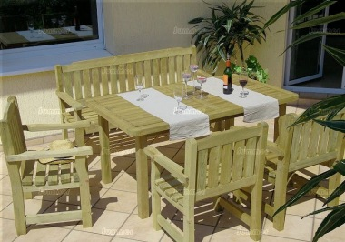4-6 Seater Bench Set 372 - Pressure Treated