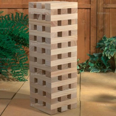 Giant Stacking Tower Wooden Blocks Garden Game 501