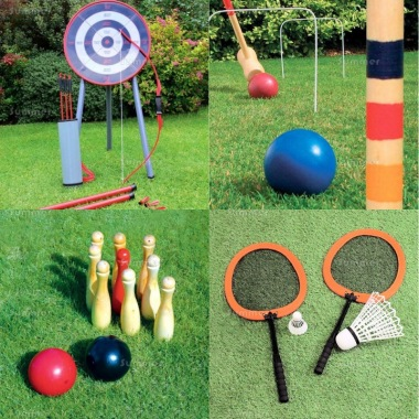 Multi Pack 539 - Archery, Croquet, Skittles, Badminton