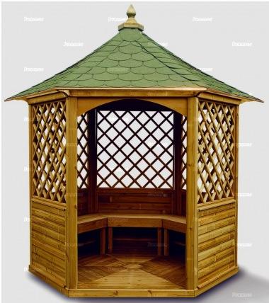 Wooden Gazebo 11 Hexagonal Pressure Treated Felt Tiles