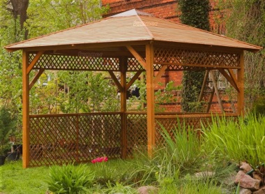 Wooden Gazebo 47 - Hot Tub Cover, Slatted Roof