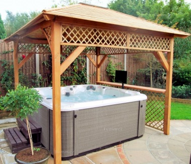 Wooden Gazebo 48 - Hot Tub Cover, Slatted Roof