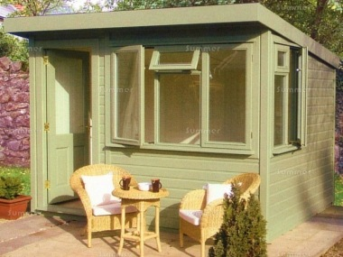 Pent Garden Office 801 - Double Glazed, Lined and Insulated