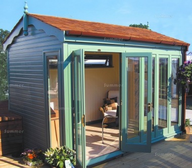 Garden Office 82 - Painted, Large Panes, Double Glazed
