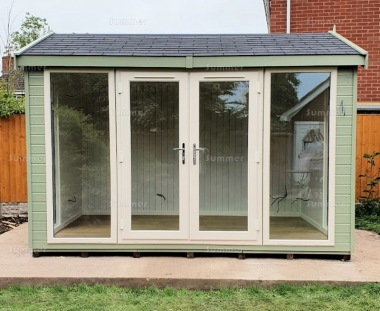Apex Garden Office 435 - Painted, Double Glazed, Insulated