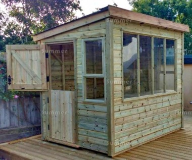 Pressure Treated Potting Shed 686 - Thicker Boards, All T & G
