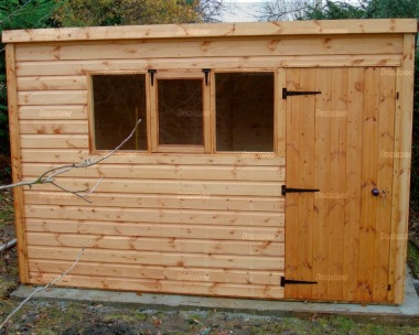 Pent Shed 11 - 2x2 Framing, All T and G