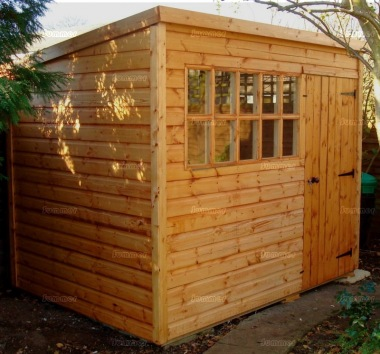 Pent Shed 111 - Georgian Glazing, 2x2 Framing