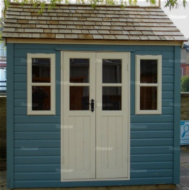 Shiplap Double Door Apex Shed 150 - Painted, Steep Roof