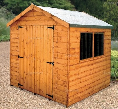 Shiplap Double Door Apex Shed 165 - All T and G