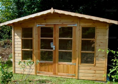 Apex Summerhouse 151 - Low Level Glazing, Double Door