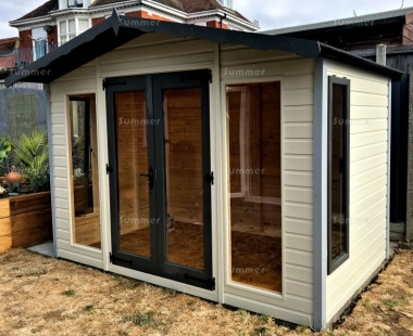 Apex Summerhouse 156 - Painted, Large Panes