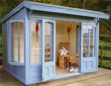Pent Summerhouse 513 Cedar Front Canopy