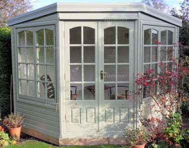 Corner Summerhouse 515 - Cedar, Painted, Georgian