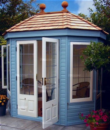 Octagonal Summerhouse 635 - Cedar, Painted