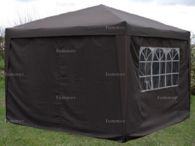 Metal Gazebo 107 - Folding Pop Up Gazebo, 4 Side Screens