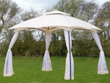 Metal Gazebo 164 - Curved Roof, Side Screens