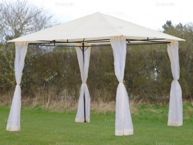 Metal Gazebo 166 - Hipped Roof, Side Screens