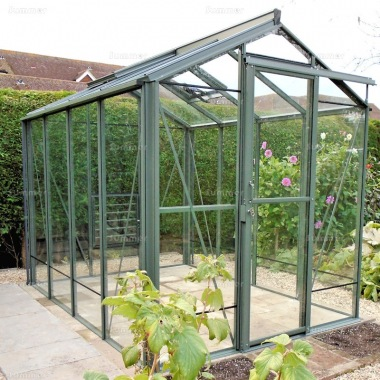 Aluminium Greenhouse 60 - Box Section, Toughened Glass