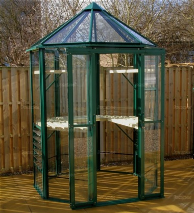 Aluminium Octagonal Greenhouse 601 - Toughened Glass