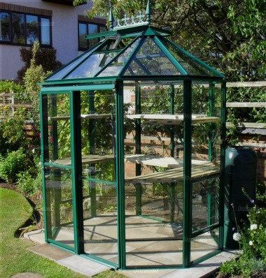 Aluminium Octagonal Greenhouse 602 - Toughened Glass
