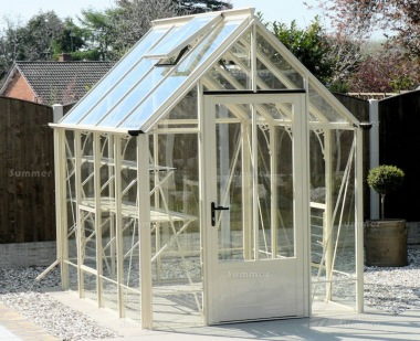 Aluminium Victorian Greenhouse 665 - Box Section, Toughened Glass
