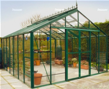 Large Aluminium Greenhouse 67 - Toughened Glass