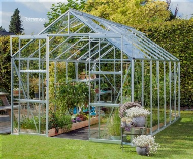 Aluminium Greenhouse 159 - Low Threshold