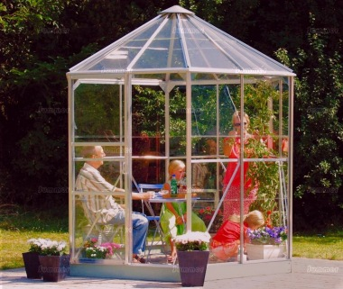Aluminium Hexagonal Greenhouse 175