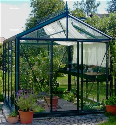 Aluminium Greenhouse 36 - Box Section, Toughened Glass