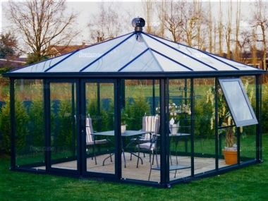 Hipped Roof Aluminium Greenhouse 47 - Box Section
